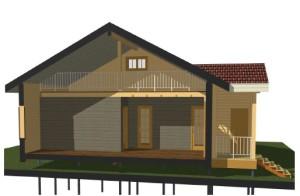 деревянный дом из утепленного бруса