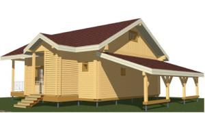 вид деревянного дома