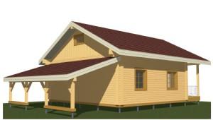 северная сторона деревянного дома