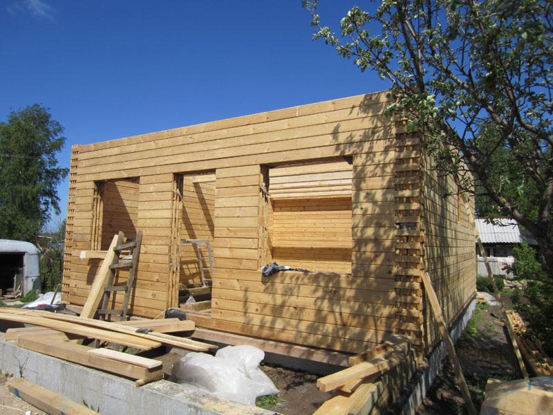 Строительство дома своими руками видео из бруса