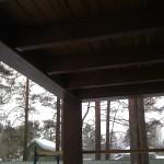 покраска балкона снизу