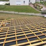 обрешетка - крыша дома из керамики