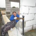 монтаж стены пассивного дома