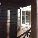 дом из дерева и пеностекла