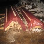 складирование материалов на стройплощадке