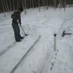 уборка снега фундамент
