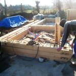 Сборка дома из утепленного пакетного бруса LOGECO