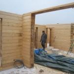 стены дома из утепленного бруса LOGECO дополнительно по желанию заказчика будут шлифоваться и полироваться