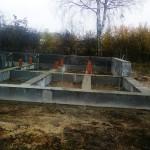 Фундамент столбчатый с подвешенным ростверком в 2- х уровнях несъемная опалубка плоский шифер — Ярославль