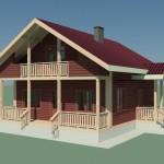 3D проект дома LogECO