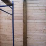 установка перегородок в доме из бруса
