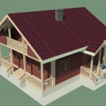 3Д макет дома