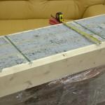 Измерение толщины бруса LogECO 430 mm Great Wall