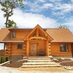 дом из бревна 2008 г