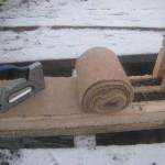 Монтаж межвенцового утеплителя - Джут в утепленный пакетный брус LOGECO