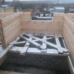 Сруб дома из утепленного пакетного бруса LOGECO