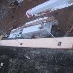 Установка стартовой доски - брус LOGECO
