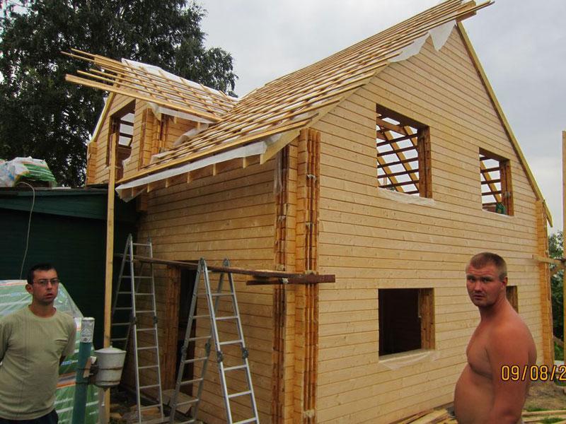 Пристройка из бруса к деревянному дому своими руками фото