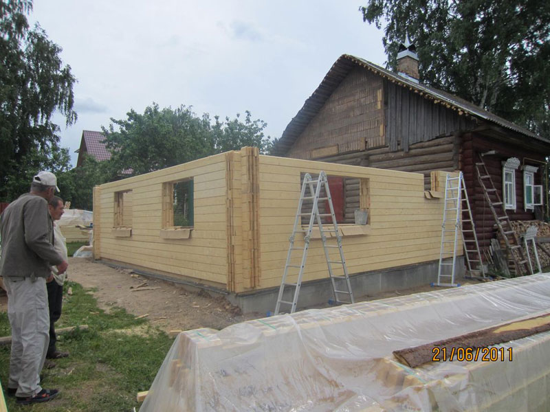 Как построить пристройку из бруса к дому своими руками