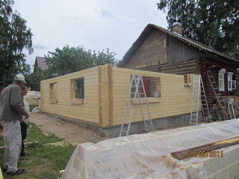 Пристрой к деревянному дому своими руками фото