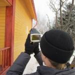 Поиск тепловых потерь и проверка качества сборки бруса